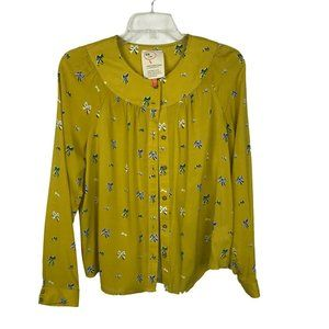 Anthropologie Women's Colloquial Bow Top Size 4